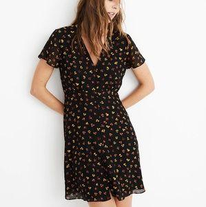 Madewell silk button front swing dress